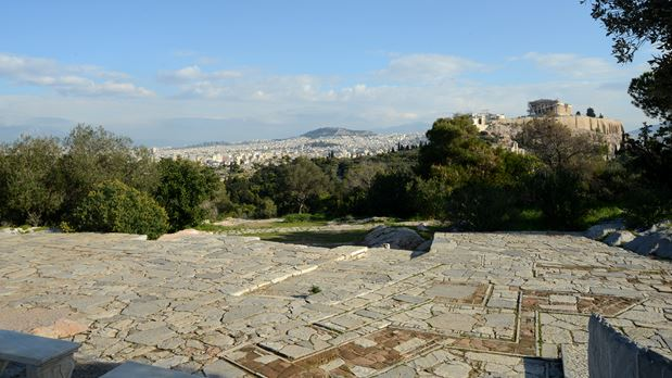 Walking at the shadow of the Acropolis