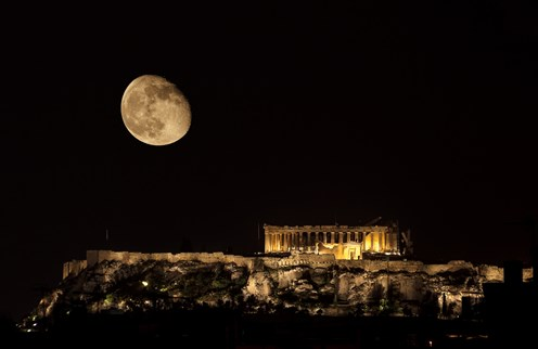 August full moon at archaeological sites