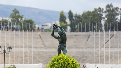 Discus Thrower, Konstantinos Dimitriadis, Panathenaic Stadium