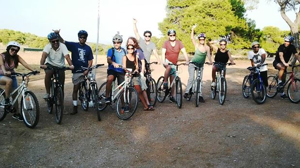Biking in Sounio National Park