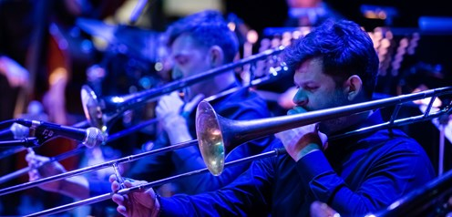 ''Brass and Jazz'' with the Big Band, Dimitris Papadopoulos and Reiner Witzel at Olympia Theater